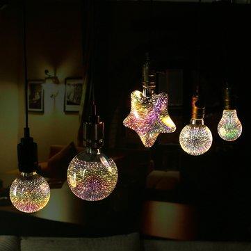 Kolekcia 3D FIREWORKS je kolekcia dekoračných žiaroviek ktoré dokážu vytvoriť nádherné osvetlenie pre Vašu domácnosť party svadbu a podobne 2 - 3D FIREWORKS, LED Dekoratívna žiarovka - Globus, E27, 5W, 100lm