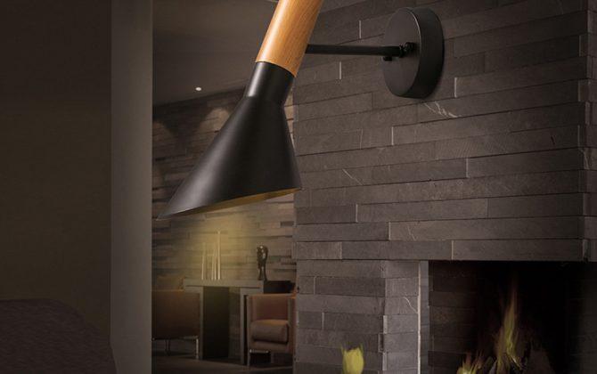 Elegantné nástenné svietidlo Nordic v čiernej farbe kombinuje kvalitný kov s prírodným dreveným materiálom1 670x420 - Elegantné nástenné svietidlo Nordic v čiernej farbe