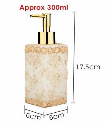 Prepracovaný dávkovač mydla - luxury