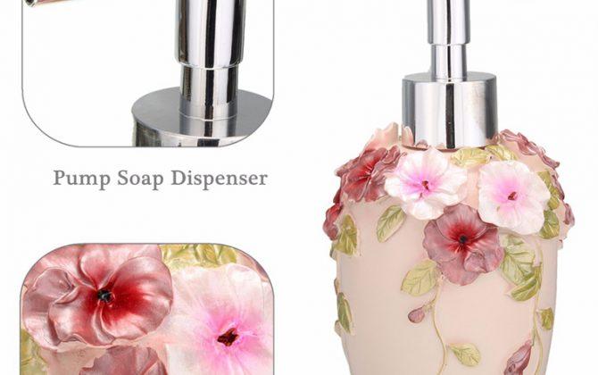 Prepracovaný dávkovač mydla v rôznych prevedeniach
