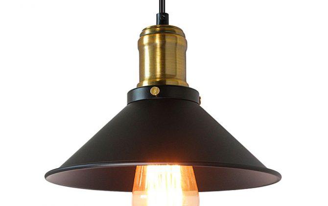 Historické závesné svietidlo v čiernej farbe 220mm 670x420 - Historické závesné svietidlo v čiernej farbe, 220mm
