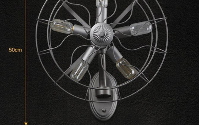 Kreatívne retro nástenné svietidlo v štýle ventilátora7 670x420 - Kreatívne retro nástenné svietidlo v štýle ventilátora