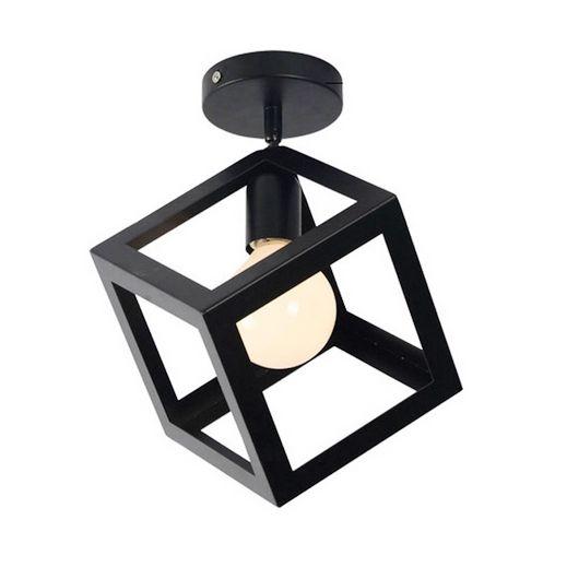 Moderné stropné svietidlo Kocka v čiernej farbe 3 - Moderné stropné svietidlo Kocka v čiernej farbe