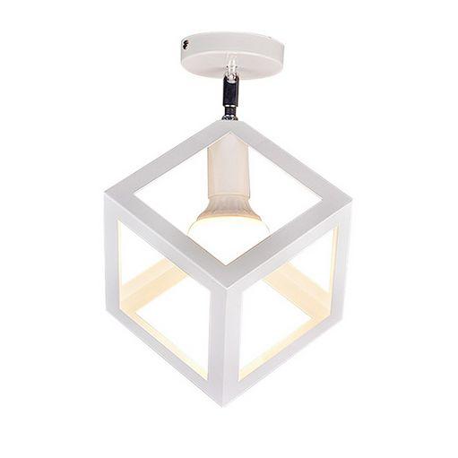 Moderné stropné svietidlo Kocka v bielej farbe 1 - Moderné stropné svietidlo Kocka v bielej farbe