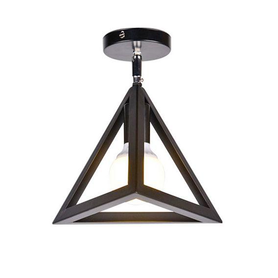 Moderné stropné svietidlo Trojuholník v čiernej farbe 1 - Moderné stropné svietidlo Trojuholník v čiernej farbe