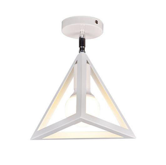 Moderné stropné svietidlo Trojuholník v bielej farbe 1 - Moderné stropné svietidlo Trojuholník v bielej farbe