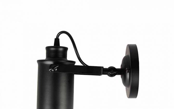 Retro nástenné svietidlo Reflector v čiernej farbe2 670x420 - Retro nástenné svietidlo Reflector v čiernej farbe