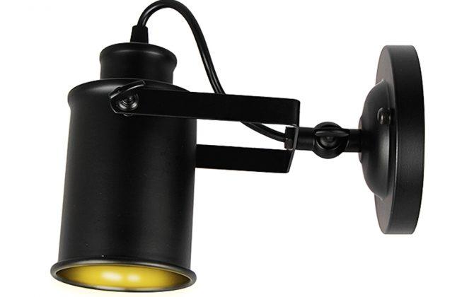 Retro nástenné svietidlo Reflector v čiernej farbe4 670x420 - Retro nástenné svietidlo Reflector v čiernej farbe