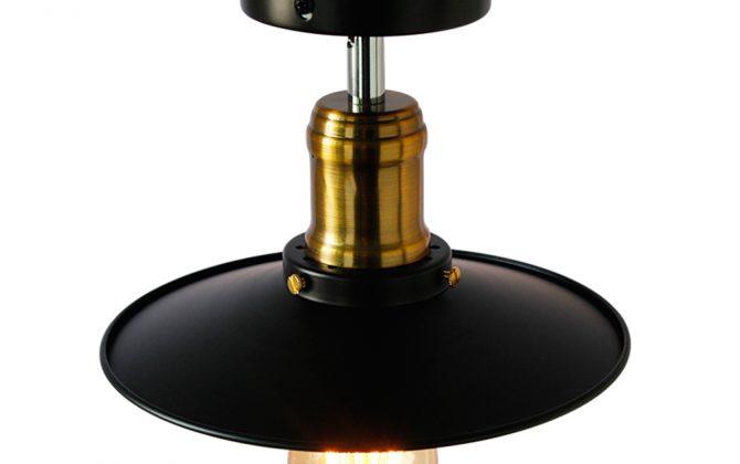 Stropné svietidlo retro s čiernym tienidlom2 670x420 - Stropné svietidlo retro s čiernym tienidlom