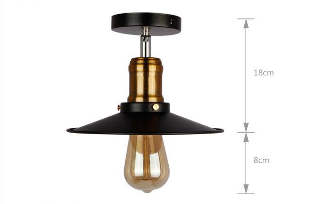 Stropné svietidlo retro s čiernym tienidlom3 670x420 - Stropné svietidlo retro s čiernym tienidlom