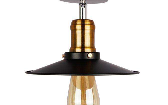 Stropné svietidlo retro s čiernym tienidlom4 670x420 - Stropné svietidlo retro s čiernym tienidlom