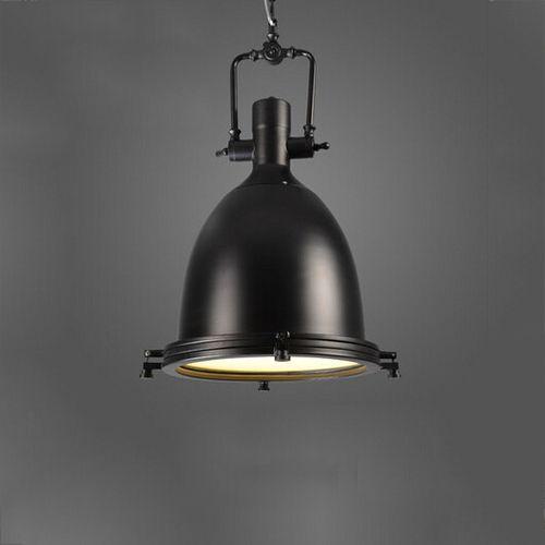 Vintage závesné svietidlo v čiernej farbe 56 x 36 cm - Vintage závesné svietidlo v čiernej farbe, 56 x 36 cm