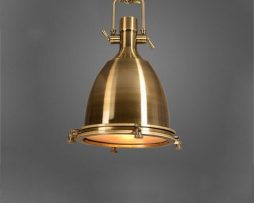 Vintage závesné svietidlo v starodávnej mosádznej farbe, 56 x 36 cm (1)