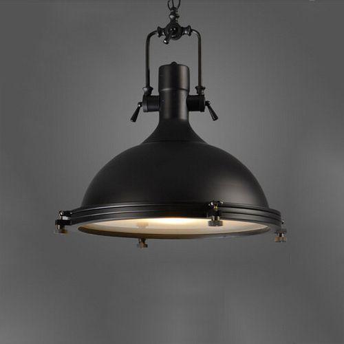 Závesné Vintage svietidlo v čiernej farbe 50 x 40 cm - Závesné Vintage svietidlo v čiernej farbe, 50 x 40 cm