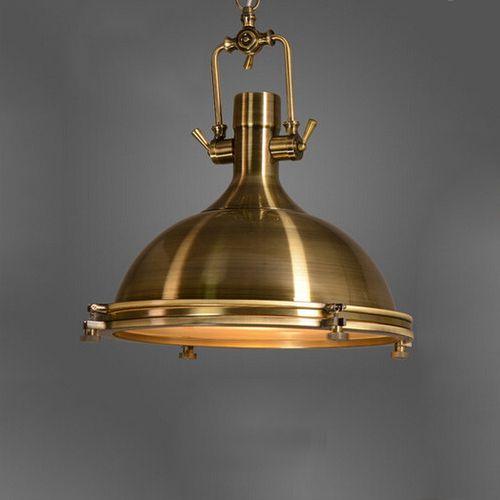 Závesné Vintage svietidlo v starodávnej mosádznej farbe 50 x 40 cm - Závesné Vintage svietidlo v starodávnej mosádznej farbe, 50 x 40 cm