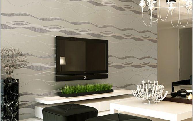 Moderná tapeta so vzorom v sivej farbe
