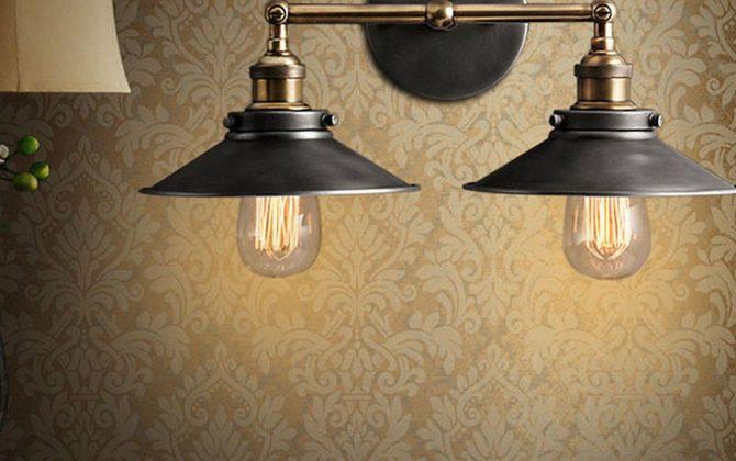 Historické dvojité nástenné svietidlo s čiernym tienidlom 4 670x420 - Historické dvojité nástenné svietidlo s čiernym tienidlom