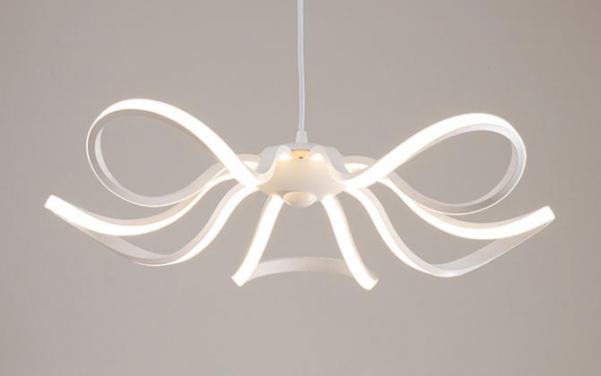 LED Moderné kreatívne závesné svietidlo RIBBON je svietidlo určené na strop v modernom vzhľade1 670x420 - LED Moderné kreatívne závesné svietidlo RIBBON