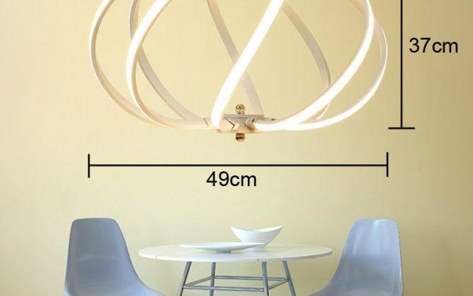 LED Moderné kreatívne závesné svietidlo SPIRAL4 670x420 - LED Moderné kreatívne závesné svietidlo SPIRAL, Teplá biela