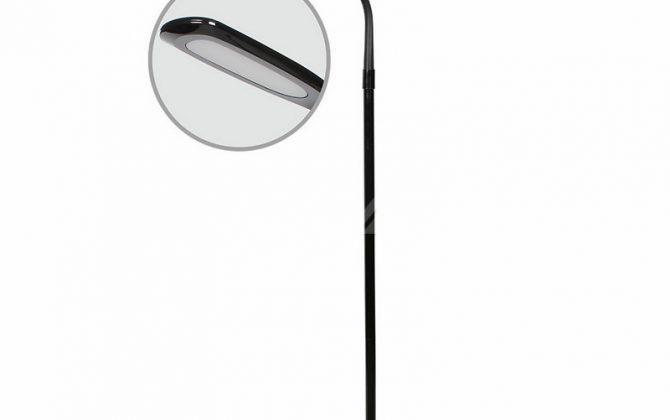 Stojacia lampa 7W v čiernej farbe 670x420 - Stojacia lampa 7W v čiernej farbe