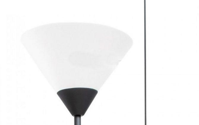 Stojacia lampa E27 čierna 670x420 - Stojacia lampa E27,  čierna