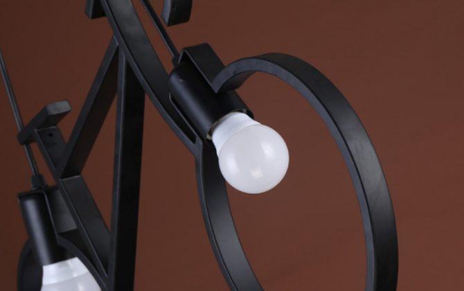 Baví Vás experimentovať a vytvárať kreatívne doplnky Pre Váš dom a byt 670x420 - Kreatívne závesné svietidlo v podobe bicykla v čiernej farbe