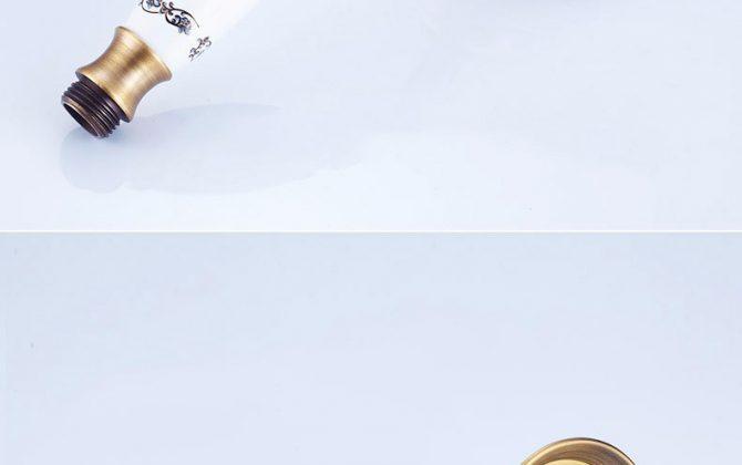 Luxusná vaňová batéria / sprchová batéria v retro štýle