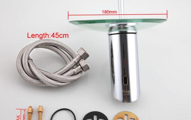 Dizajnová sklenená umývadlová batéria