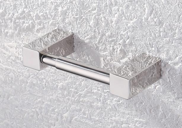 Chrómový moderný držiak na toaletný papier
