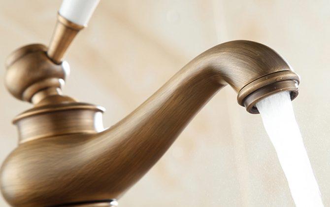 Luxusná vintage vodovodná batéria - antický bronz