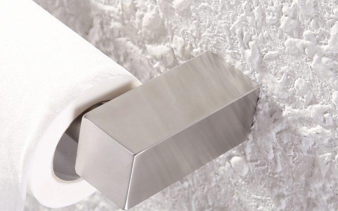 Niklový moderný držiak na toaletný papier