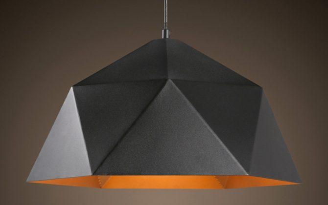 Svietidlo je vhodné ako dekorácia a osvetlenie do obývacej izby 670x420 - Závesné svietidlo Diamond v čiernej farbe