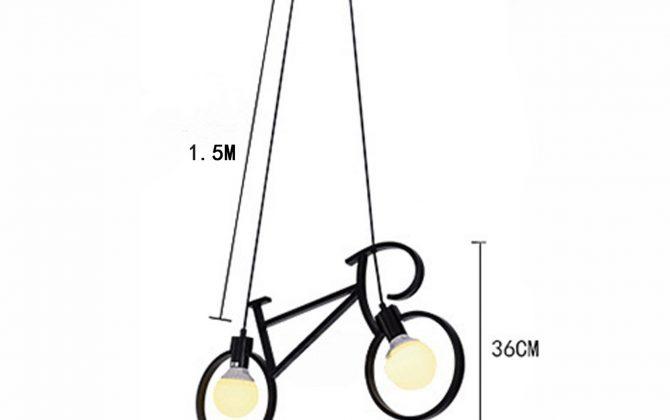 Svietidlo je vybavené dvomi päticami na žiarovky typu E27 670x420 - Kreatívne závesné svietidlo v podobe bicykla v čiernej farbe