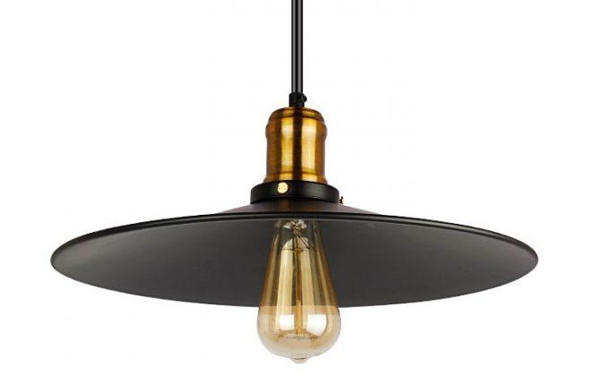 Závesné historické svietidlo s čiernym tienidlom 360mm