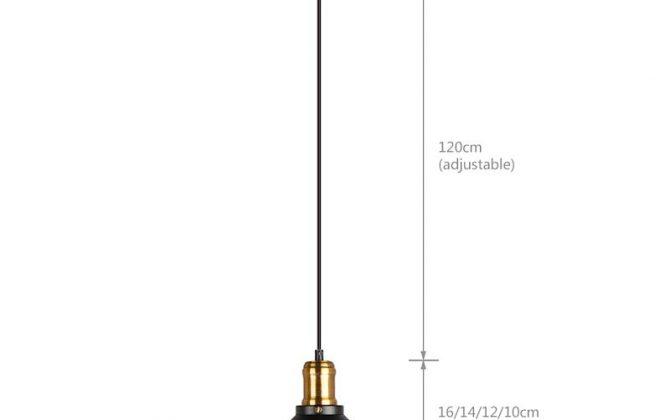 rozmer 670x420 - Závesné historické svietidlo s čiernym tienidlom 360mm