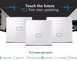 SMART- HOME dotykový vypínač 1-tlačítkový pre inteligentnú domácnosť