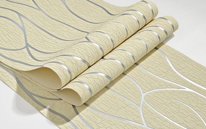 Luxusná 3D semišová tapeta na stenu v béžovo striebornej farbe  670x420 - Luxusná 3D semišová tapeta na stenu v béžovo-striebornej farbe