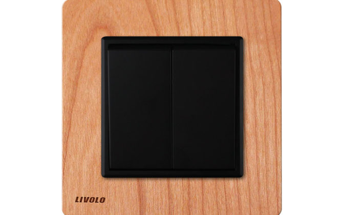 Livolo EU standard Manufacturer Luxury Natural Wood Panel Push Button 2Gang 2 Way Switch Smart Home 670x420 - Luxusný mechanický vypínač č.5B v drevenom prevedení