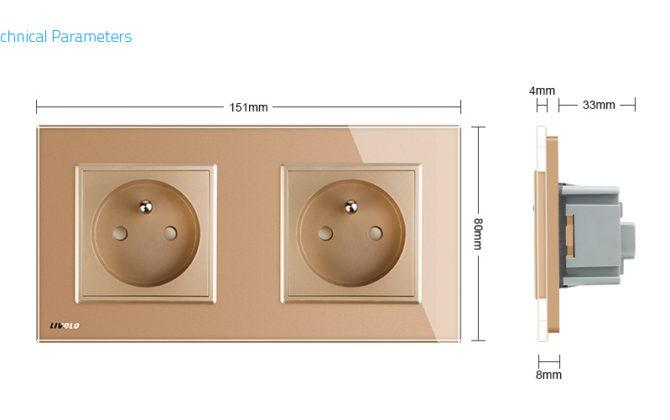 Luxusná dvojzásuvka s ochranným kolíkom v zlatej farbe 3 670x420 - Luxusná dvojzásuvka s ochranným kolíkom v zlatej farbe