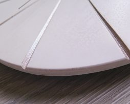 Ručne vyrobené nástenné hodiny - White gold