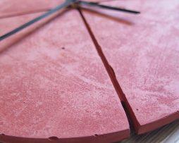 Ručne vyrobené nástenné hodiny - Terracotta pure quatro