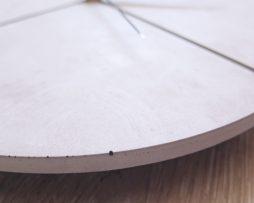 Ručne vyrobené nástenné hodiny - Pure concrete quatro