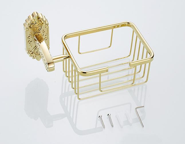 Starožitný prepracovaný držiak na toaletný papier v zlatej farbe 1 3 - Starožitný prepracovaný držiak na toaletný papier v zlatej farbe