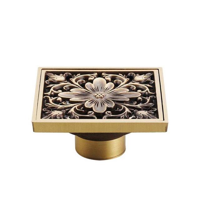 Elegantná podlahová vpusť do kúpeľne v rôznych prevedeniach