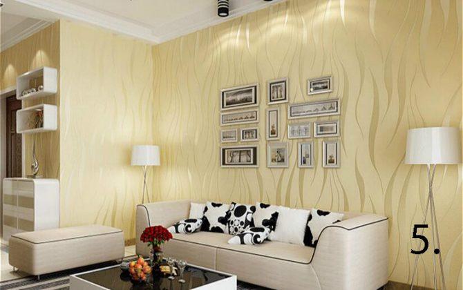 Moderná reliéfna tapeta na stenu bežová 670x420 - Moderná reliéfna tapeta na stenu v rôznych farebných prevedeniach