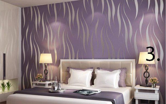 Moderná reliéfna tapeta na stenu fialov 670x420 - Moderná reliéfna tapeta na stenu v rôznych farebných prevedeniach