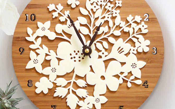 Retro kvetinové drevené nástenné hodiny 1 1 670x420 - Retro kvetinové drevené nástenné hodiny