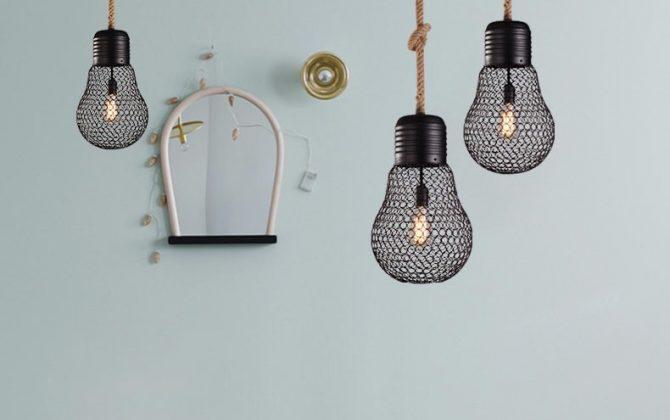 Závesné lanové svietidlo s čiernou klietkou v tvare žiarovky 30cm 4 670x420 - Závesné lanové svietidlo s čiernou klietkou v tvare žiarovky, 30cm