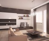 Návrh interiéru 2-izbového bytu, Ružomberok – kompletná rekonštrukcia