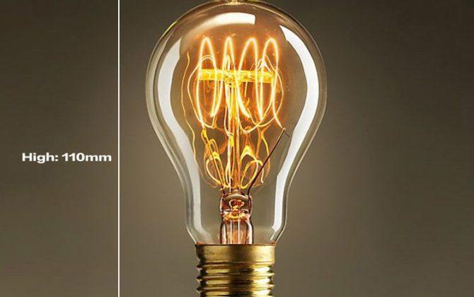 EDISON žiarovka – CLASSIC je žiarovka z historickej kolekcie EDISON v tvare klasickej žiarovky z minulého storočia 670x420 - EDISON žiarovka - CLASSIC-C - E27, 40W, 150lm